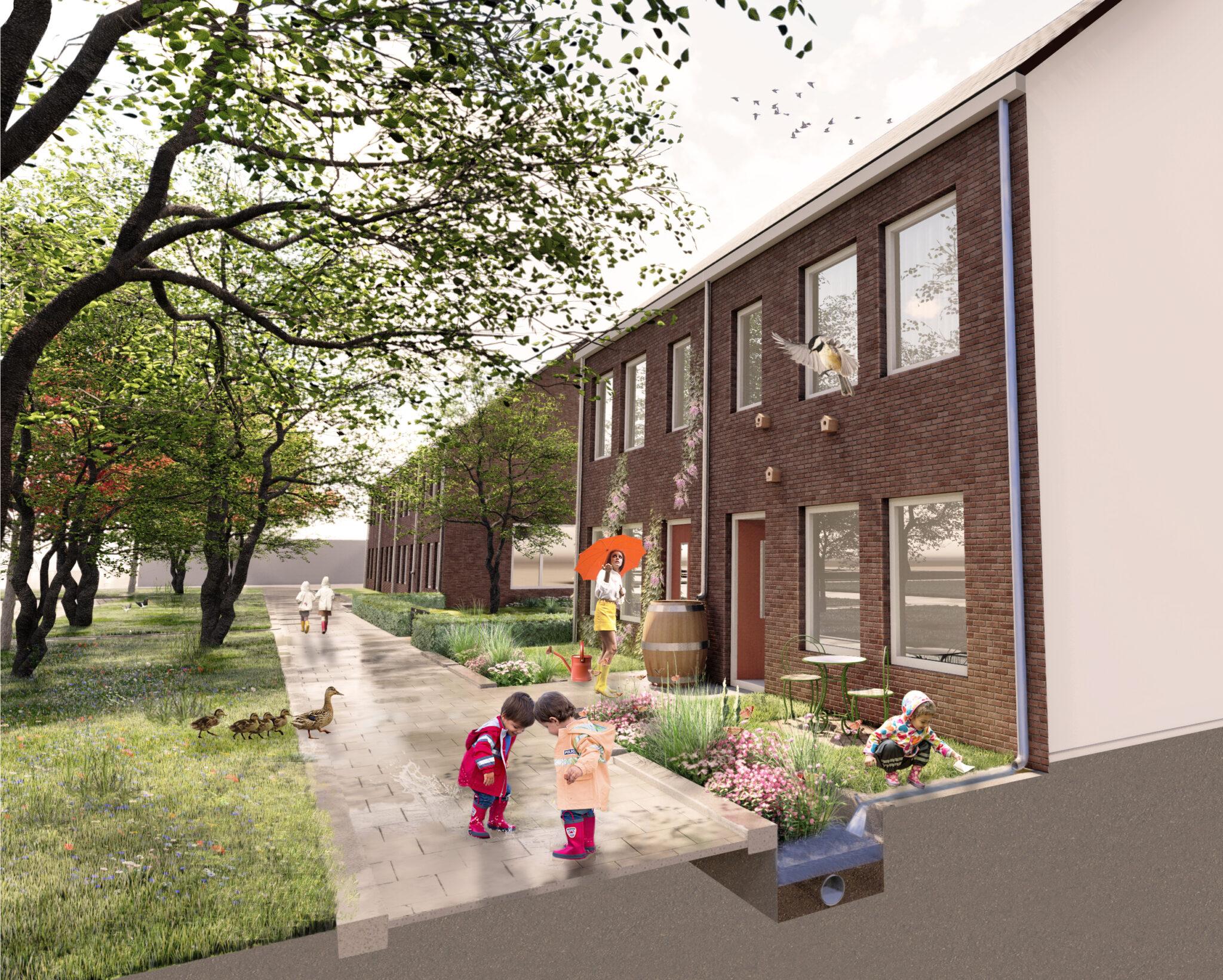 1. Landschappelijk ontwerp klimaatbestendige woonijk_Immanuelhof_beeld 1, projectenpagina